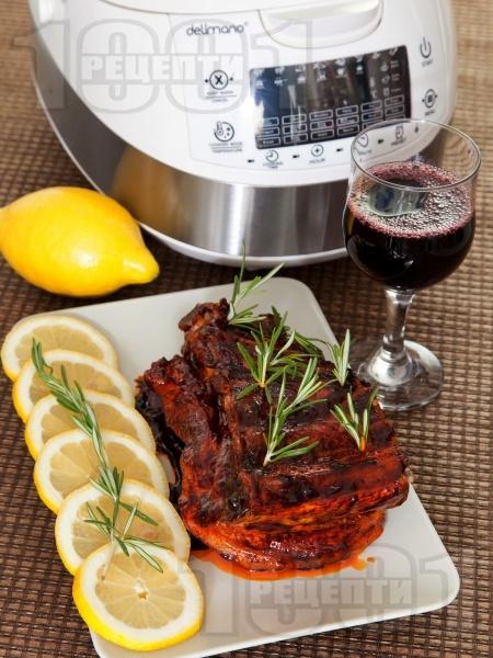 Свински ребра с барбекю сос в Делимано Мултикукър - снимка на рецептата